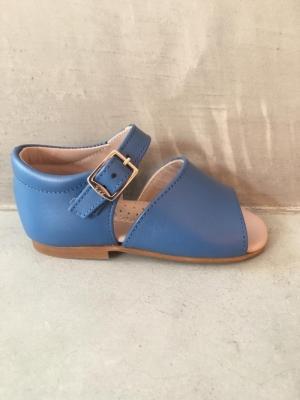 sandalia azul  logo