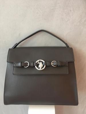 top handle bag logo