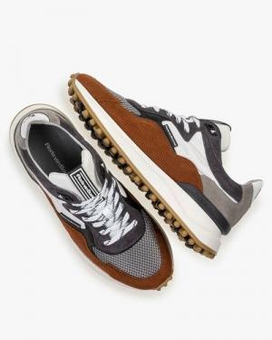 sneaker noppie zool bruin
