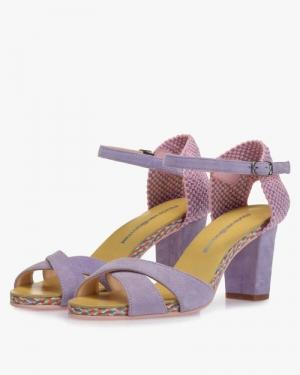 lilak suede sandaal paars