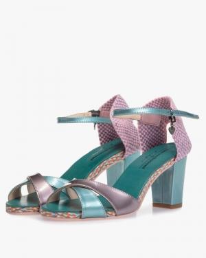 bleu patent sandaal paars