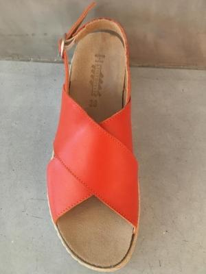 nappa arancio corail sandaal logo