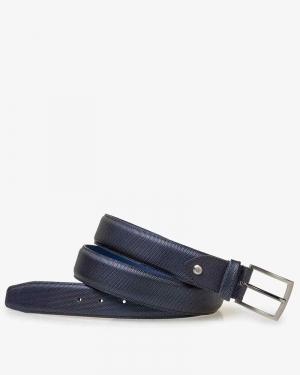 N.D.bleu Pr. Metallic belt logo